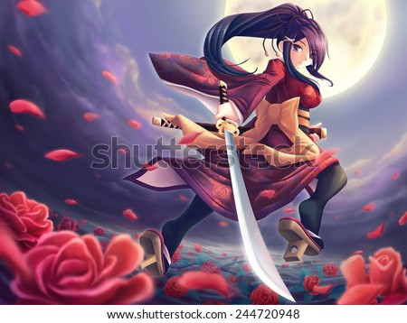 Stock Photo Rose samurai