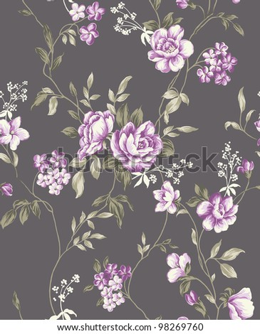 rose seamless pattern background. For easy making seamless pattern use it for filling any contours.