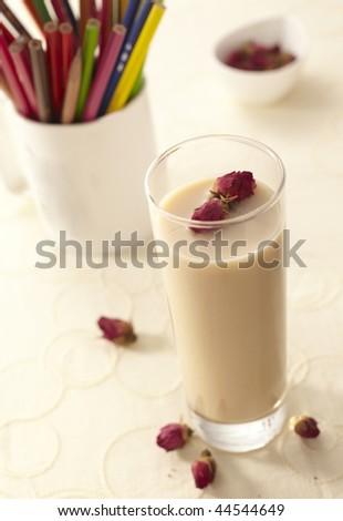 Rose tea with milk