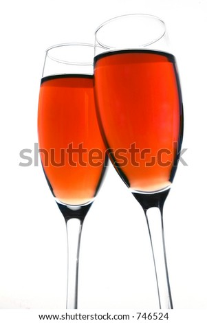 Rose wine toast