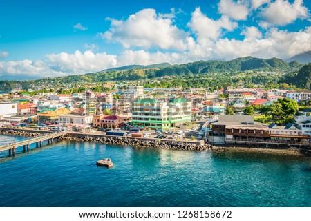 Roseau, Dominica, Caribbean Stockfoto ©