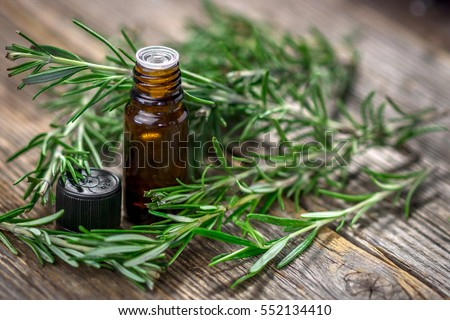 Rosemary essential oil and fresh rosemary  #552134410