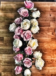 Roses and butcher black table
