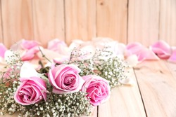 roses for lover with copy space, beautiful flower, love concept for valentines day, wedding, anniversary, congratulation and birthday