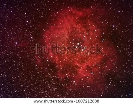 Rosette Nebula in LRGB - Shutterstock ID 1007212888
