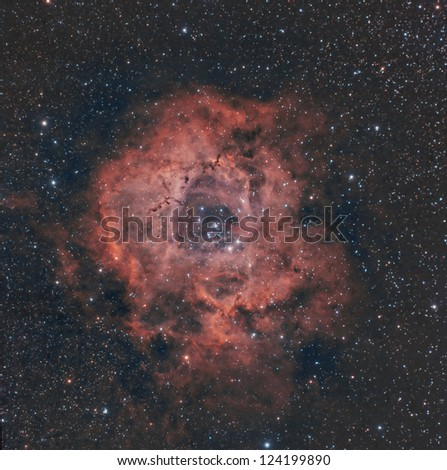 Rosette Nebula in RGB Color and Hydrogen Alpha