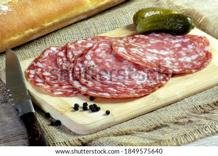rosette slices on a cutting board Stockfoto ©