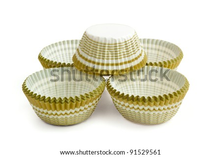 Rosettes for biscuit isolated on white background