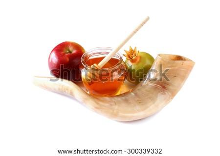 Free Photos Shofar Horn Honey Apple And Pomegranate Isolated On