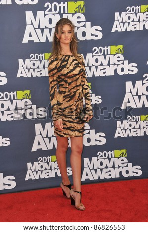 Rosie Huntington-Whiteley arrives at the 2011 MTV Movie Awards at the Gibson Amphitheatre, Universal Studios, Hollywood. June 5, 2011  Los Angeles, CA Picture: Paul Smith / Featureflash