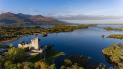 Ross Castle in Killarney National Park during early morning, Ring of Kerry, Ireland