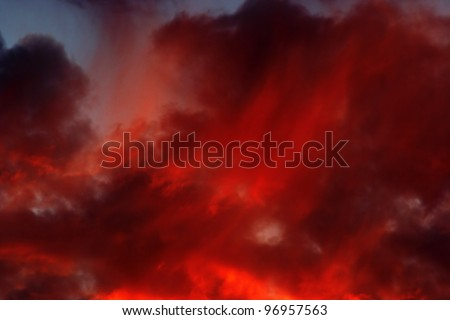rosy sky - sunset colors