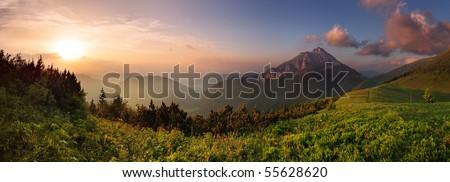 Roszutec peak in sunset - Slovakia mountain Fatra #55628620