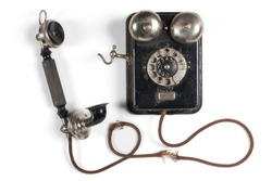 Rotary Phone Vintage Black Telephone from the twentieth century