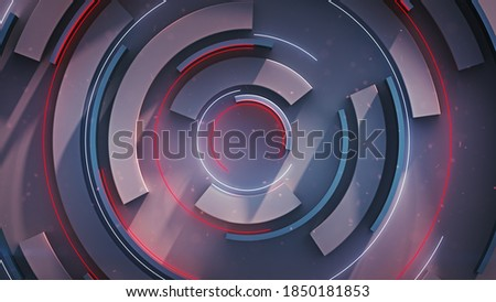 Rotating circle elements. Computer generated abstract background. 3D rendering illustration Сток-фото ©