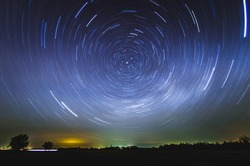 rotation of the starry sky around north star