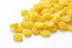 Rotelle or ruote is a type of pasta resembling wheels with spokes. They are similar to fiori.