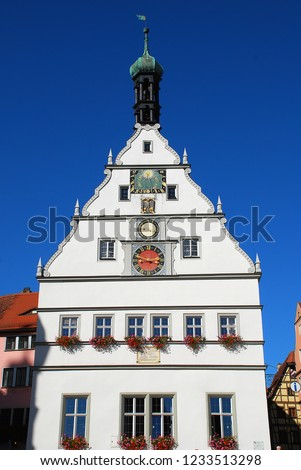 Rothenburg ob der Tauber, Germany: Ratstrinkstube (Councillor's Tavern). The former tavern was previously the exclusive preserve of the great and good of the Town Council