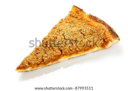 Rotisserie: Slice of Sicily sfincione on white background
