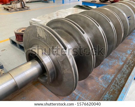 Rotor motor Impeller of Multi stage centrifugal pump for pump industry process.