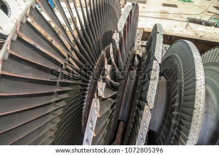 rotor turbine of power electric ...
