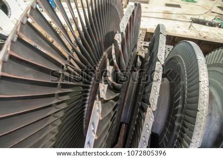 rotor turbine of power electric ...