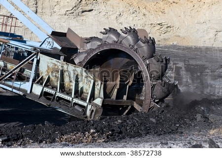 Rotornyj dredge for a coal mining