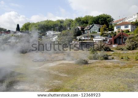 Rotorua town scene - New Zealand