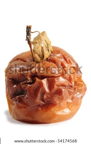 Rotten apple. Isolated - stock photo