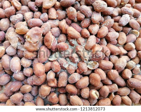 rotten groundnut or peanut, Can not eat because it is a harmful to the body