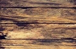 Rotten wooden boards