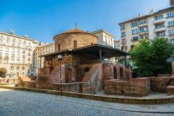 Rotunda, church of saint George, oldest church in Sofia, Bulgaria in a summer day