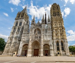 Rouen Cathedral (Cathedrale de Notre-Dame) in Rouen, capital of Haute-Normandie, France.