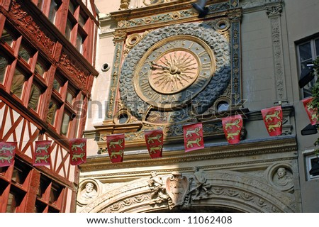 Rouen (Normandy, France) - Rue du Gros Horloge, ancient street