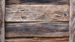 Rough and rustic wooden suface. Old dark wood. Background.