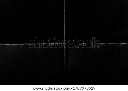 Rough Damaged Grunge Wrinkled Creased Folded Paper Cut. Authentic Distressed Overlay Poster Texture. Dust and Scratch. Surface Texture Background.  Photo stock ©