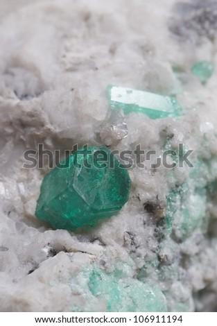 Rough emerald.