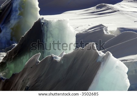 Rough ice