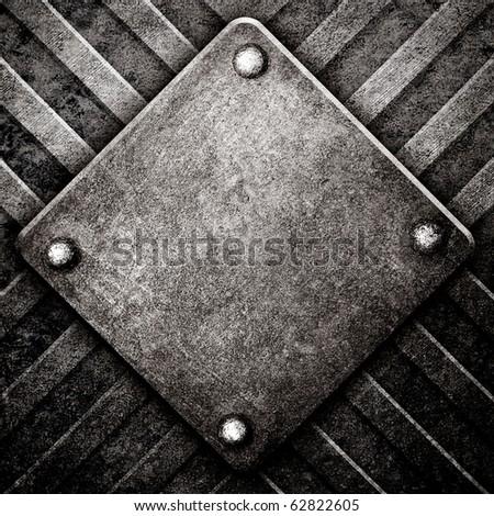 rough metal template