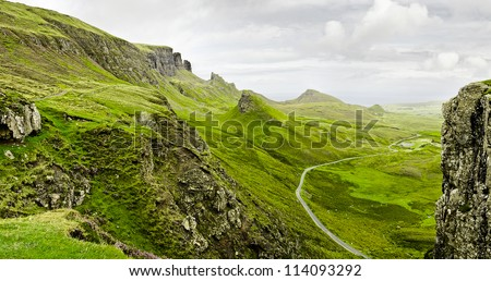 rough mountains in the scottish highlands