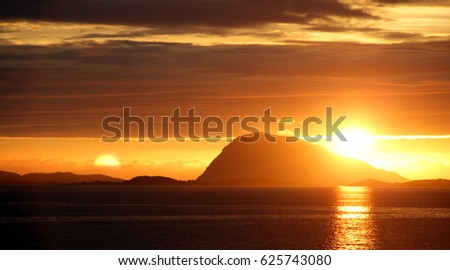 Rough nature in Norwegian landscape in the summer #625743080