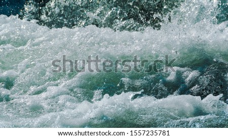 rough ocean waves, stormy sea surf, fast flowing mountain river #1557235781