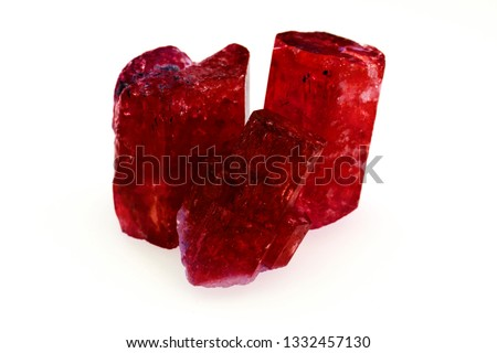 rough  ruby sapphire and gemstone crystal for jewelry