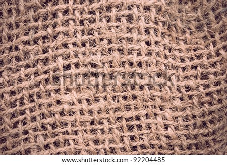 Rough sack or canvas texture in sepia - stock photo