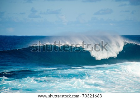 rough seas at La Fajana, Barlevento, La Palma, Canary islands, Spain