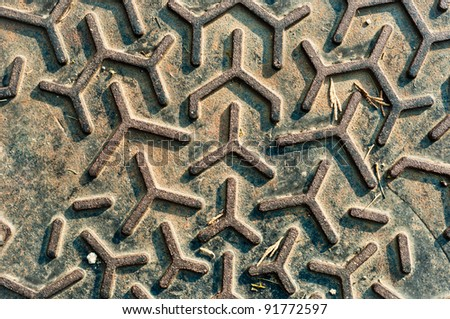 Rough steel background with abstract pattern