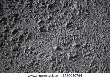 Rough surface of the concrete