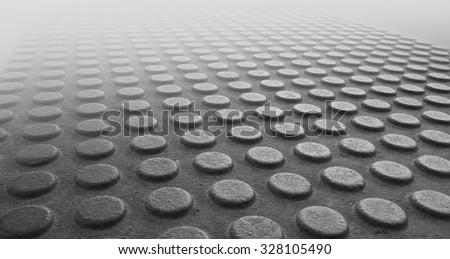 Rough texture of  block pavement