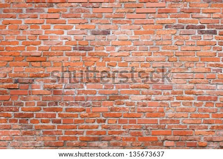 Rough textured old brick wall as a background
