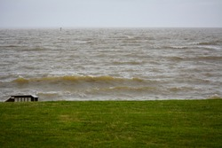 Rough water on the Potomac River near the Chesapeake Bay.